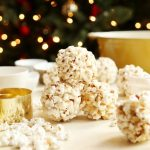 Buttery Eggnog-ish Candied Popcorn Balls