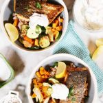 Bowl of Food: Pan Seared Salmon and Roasted Vegetables